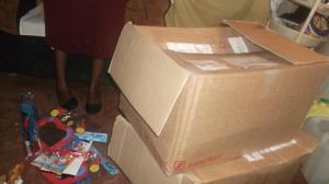 Zwei der drei Kartons mit je 15kg Inhalt