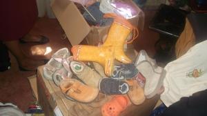 Ein paar der gesendeten Schuhe
