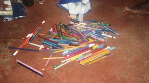 Viele Stifte zum schreiben und malen